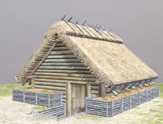 We showed how the deep Slavic housing of the IX-X century looks like
