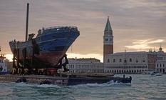 Sunken ship as the main art object of the Venice Biennale