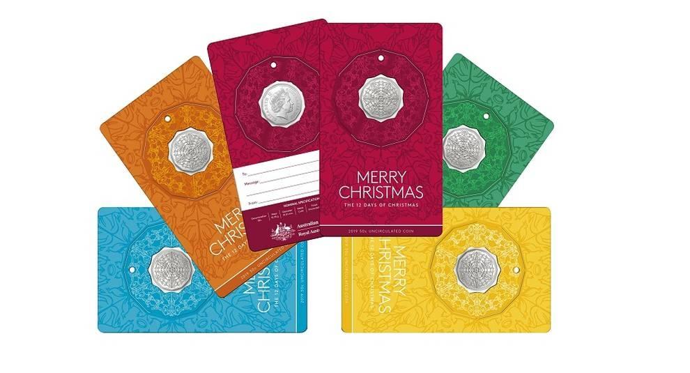 Австралия выпустила монету в честь 12 дней Рождества