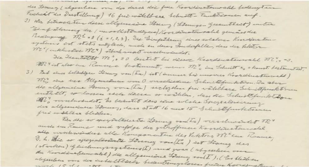 На аукционе в Израиле выставили письмо Альберта Эйнштейна