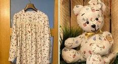 A reminder of the loved ones: soft bears out of old things
