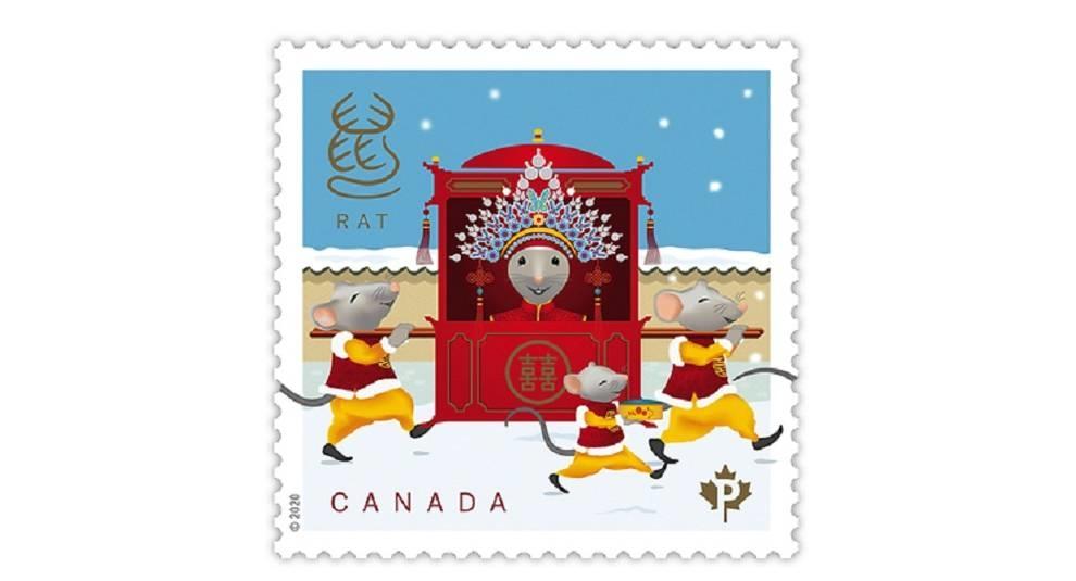 Канада выпустила марки на фольклорную крысиную тематику