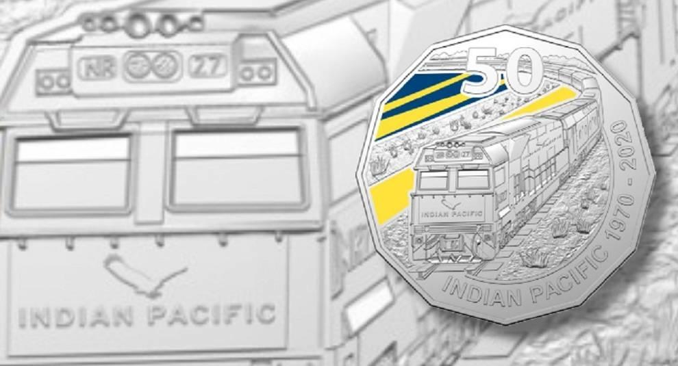 К 50-летию железной дороги Indian Pacific выпустили монету