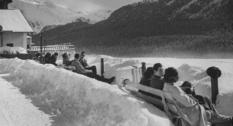 Послевоенные фотографии курорта Санкт-Мориц