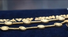 The Scythian diadem found in the Poltava region was first shown in the Museum