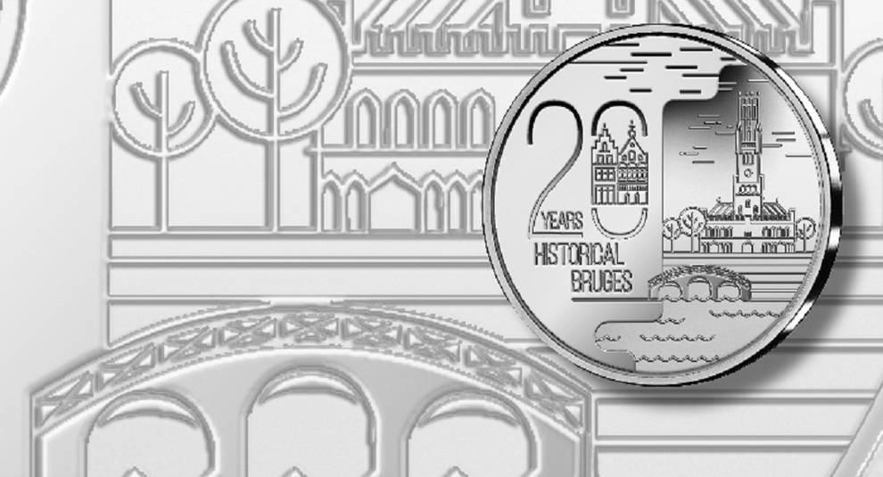 20-евровую монету посвятили городу Брюгге
