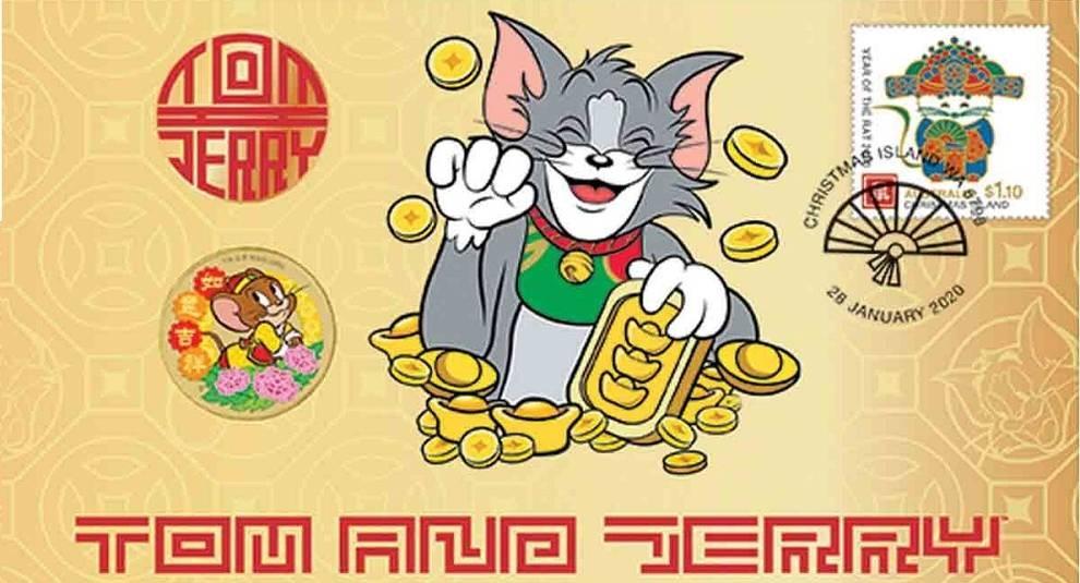 Монета+марка: Тувалу выпустило набор с изображением мультяшного мышонка