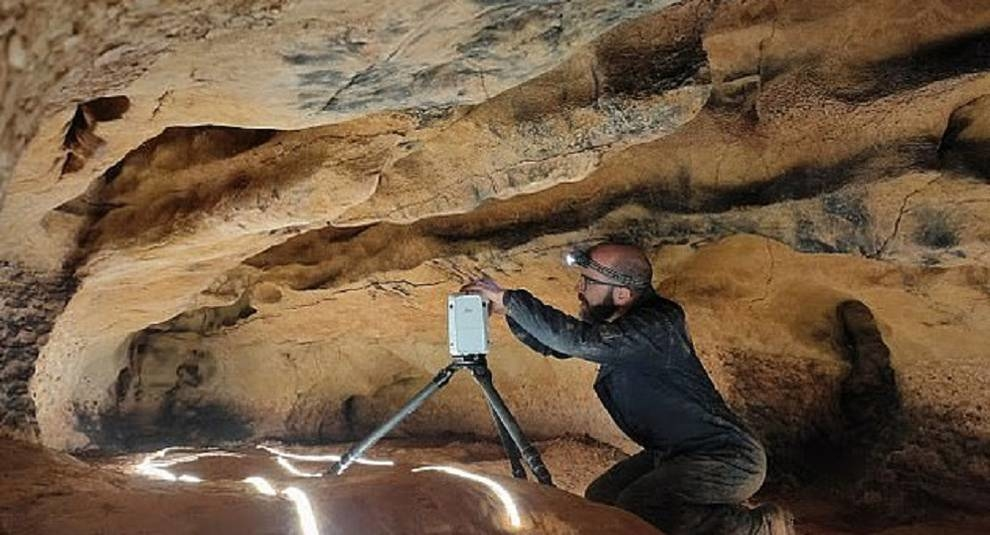 Ancient cave drawings were studied in Spain