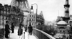 Движущийся тротуар на Всемирной выставке в Париже