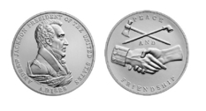 In the United States, a silver medal dedicated to Andrew Jackson was released