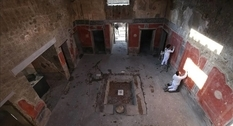 Three ancient houses were opened in Pompeii