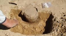 В погребальной урне нашли солнечный диск