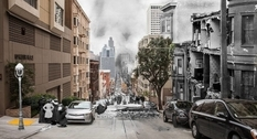 On the border between past and present: San Francisco in photo collages