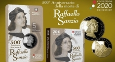 To mark the 500th anniversary of Raphael's death, coins will be issued in Italy