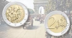 Франция выпустила монету номиналом 2 евро с изображением де Голля