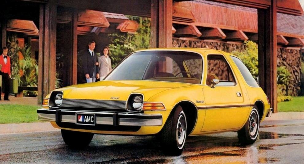 Vintage shots of the compact AMC Pacer