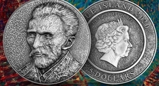 Niue has prepared for the release of a coin with a self portrait of van Gogh