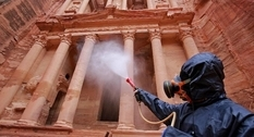 An ancient temple was disinfected in Petra