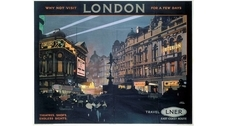 Vintage advertising: bright posters of the London railway