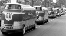 Advertising the future: General Motors Futurliners cars on the