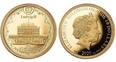 Немецкая архитектура: дворец Нимфенбург украсил золотую монету