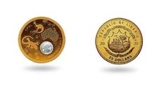 Либерия представила монету с опаловой вставкой