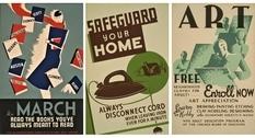 Плакаты WPA времен Великой депрессии и Второй мировой войны