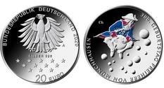 Германия выпустила монету к 300-летию со дня рождения барона Мюнхгаузена