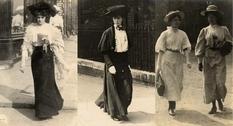 Эдвардианская мода на фото 1900-х годов