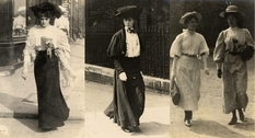 Edwardian fashion in the photo of the 1900s