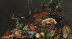 Luxury still life: painting by Jan Davids de Hema