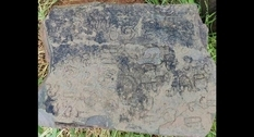 An ancient inscription on a slab was discovered and deciphered in India