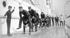 Folk fun: how to play leapfrog more than half a century ago