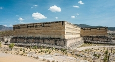 Traces of Zapotec culture: ruins of the ancient city of Mitla