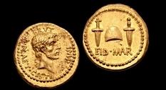 Монету, отчеканенную в честь смерти Цезаря, выставили на аукционе
