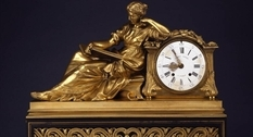 Collection of antique clocks at Waddesdon Manor