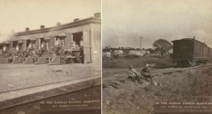 What the Kansas Pacific railroad looked like in the 19th century