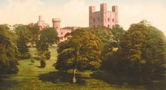Castles of Wales in ancient pictures of the century before last