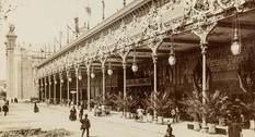 Photo of the world's fair in Paris in 1889
