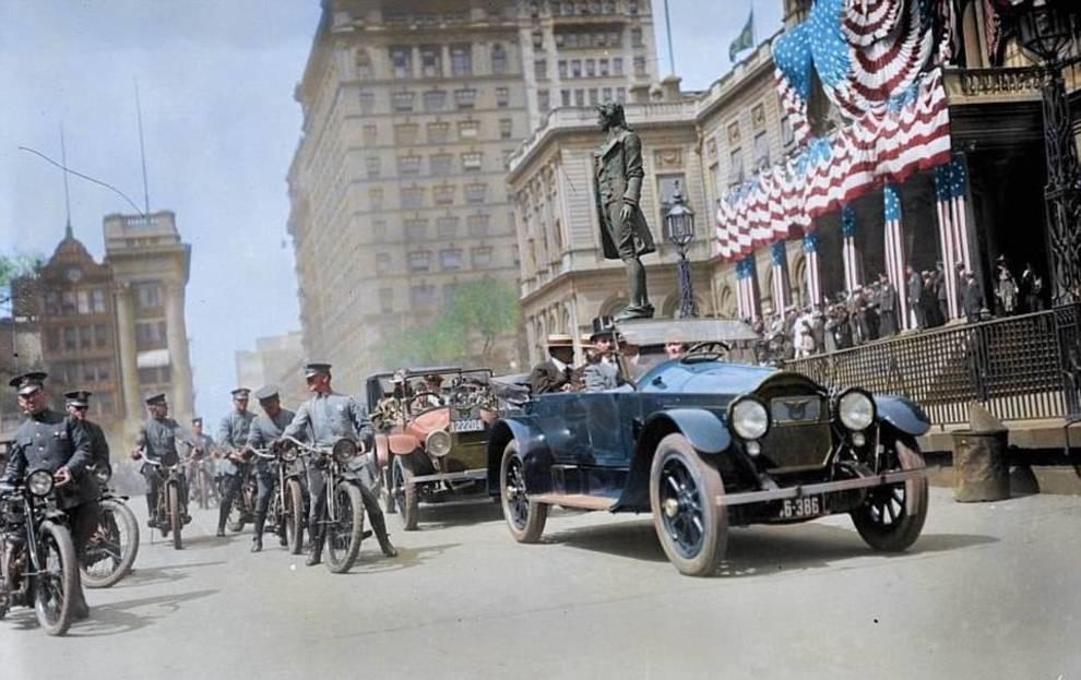 100-летние фотографии Нью-Йорка в цвете