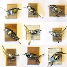 Recycling: birds made from old spoons and forks