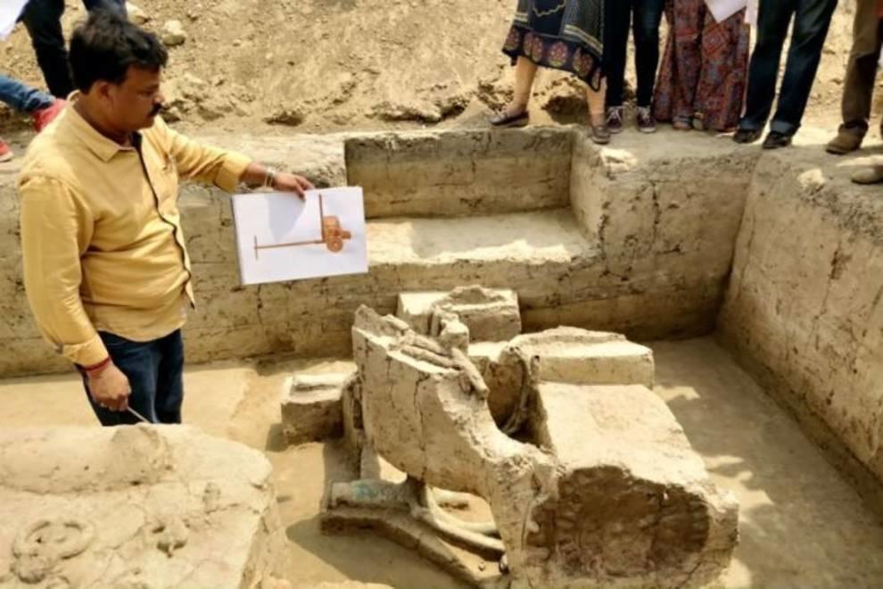 В Индии нашли 4000-летние колесницы