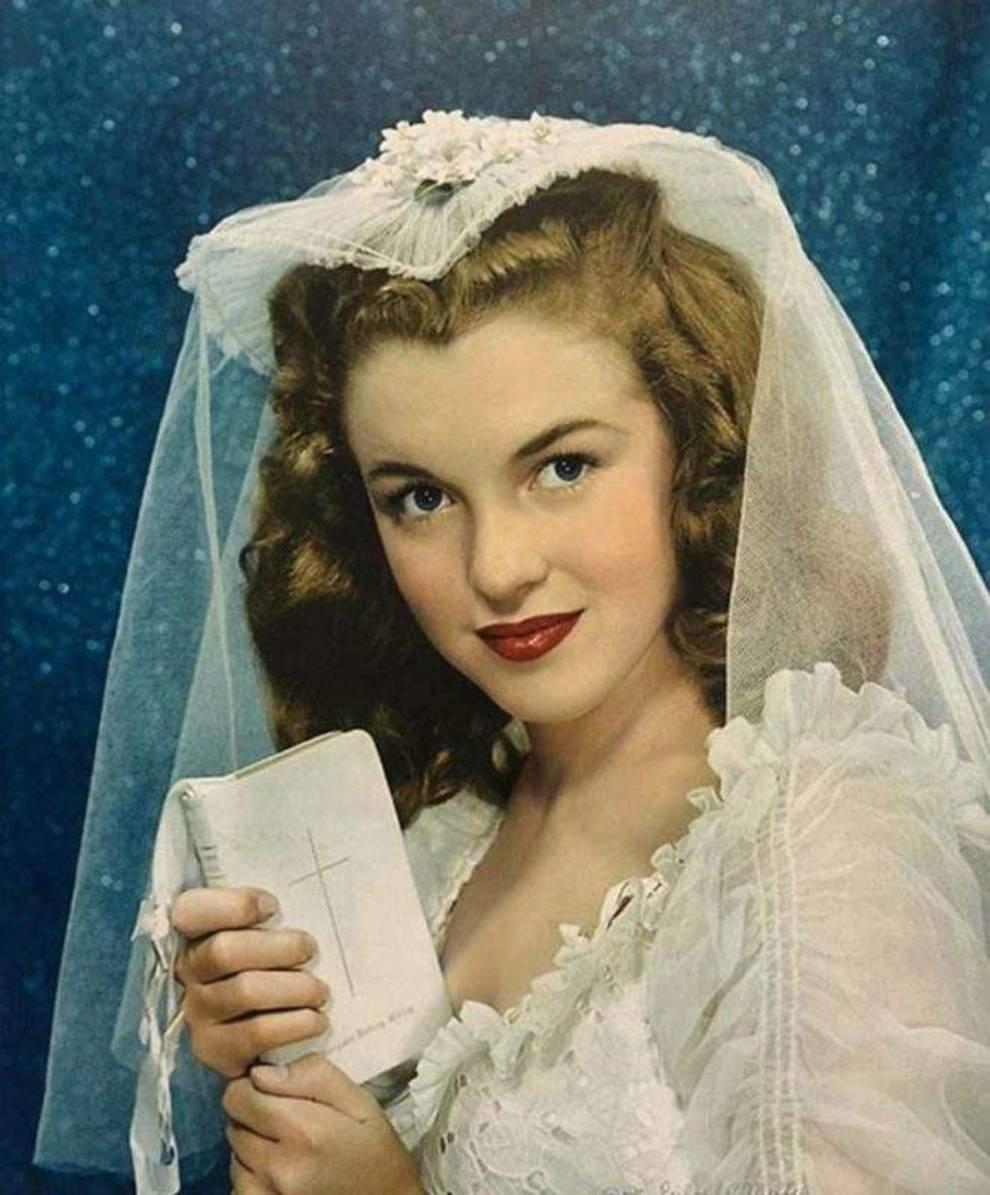 Милая и амбициозная: как выглядела Монро в день своей первой свадьбы