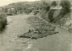 Как гуцулы сплавляли лес по рекам: архивное видео 1965 года