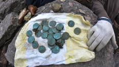 Under the wall of the Vyborg Castle found monetary treasure
