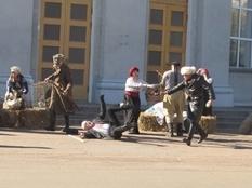 In Cherkassy showed the reconstruction of the battle of the Ukrainian revolution