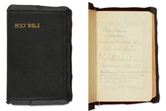 Bible signed by Einstein will be put up for auction