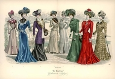Corsets and ruffles: fashionable women's dresses of the beginning of the 20th century on the covers of a fashionable Holland magazine