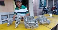 Found a way out: Filipino, who had long dreamed of his own fleet, made it from wire