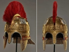 Helmet restored from the treasure of the English King